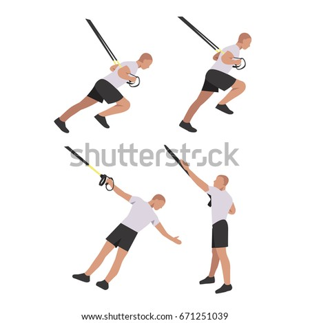 fitness character set robe template isolated stock vector 671251039