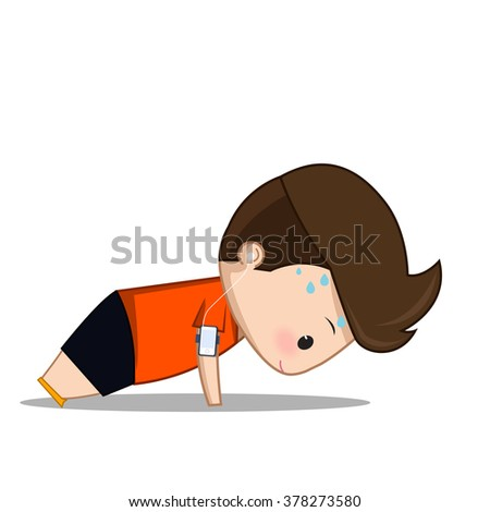 Weight cartoons stock images royalty free images - Fitness cartoon pics ...