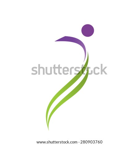 Fitness for active life logo concept - stock vector