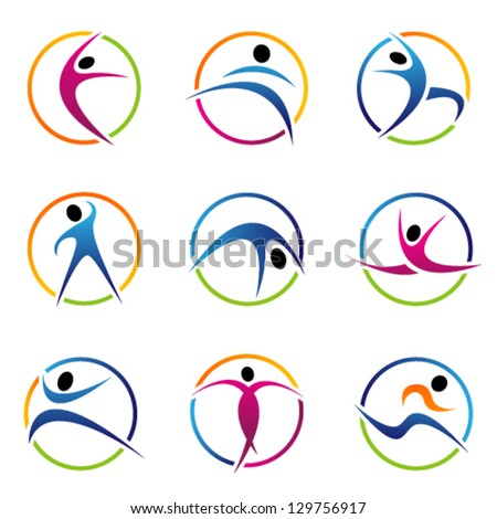 fitness globe elements. Graphic Design Editable For Your Design.