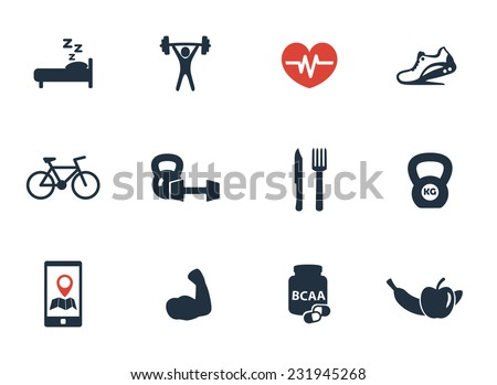fitness, gym icons set vector illustration, eps10, easy to edit - stock vector