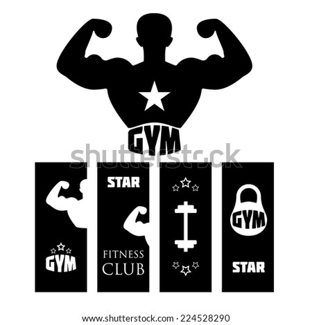 Fitness gym. Vector illustration. - stock vector