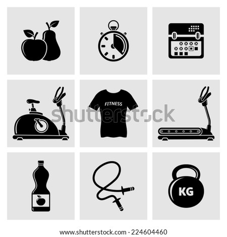 Fitness Icons - stock vector