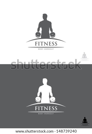 Fitness label - vector illustration