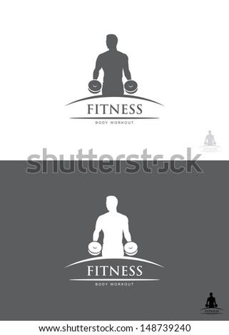 Fitness label - vector illustration - stock vector