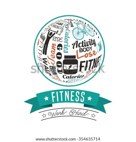 fitness lifestyle design, vector illustration eps10 graphic