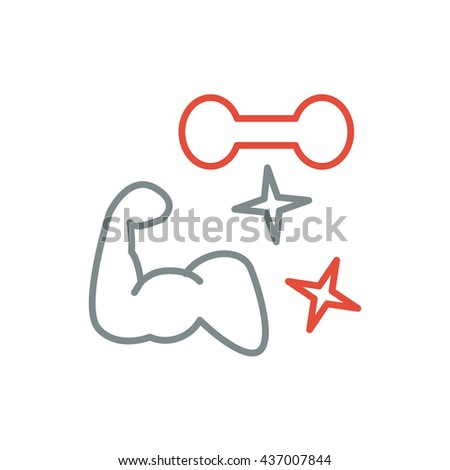 Fitness line art icon for your design