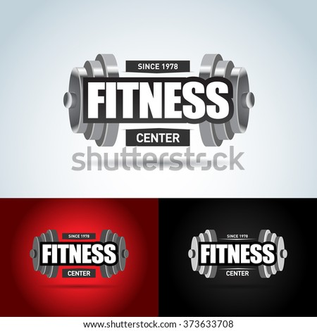 Fitness logo template. Gym club logotype. Sport Fitness club creative concept. Gym club logotype. Isolated Vector Illustration, Sign, Symbol, badge. - stock vector