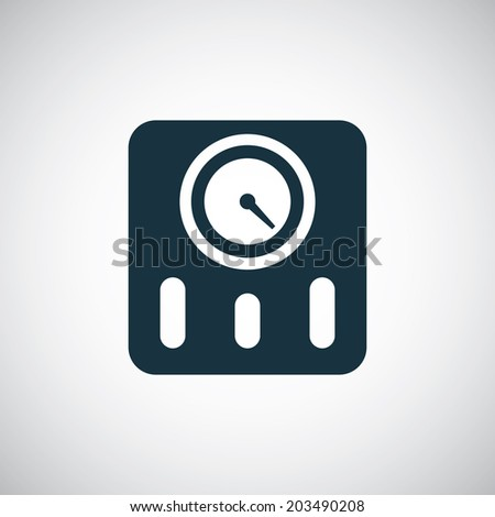 fitness scales icon - stock vector