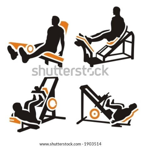 Fitness Vector Icons Series. - stock vector