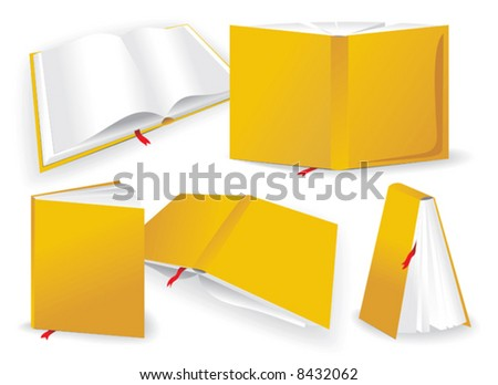 five different perspective on book - stock vector