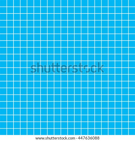 Five millimeters square white grid on blue, blueprint pattern