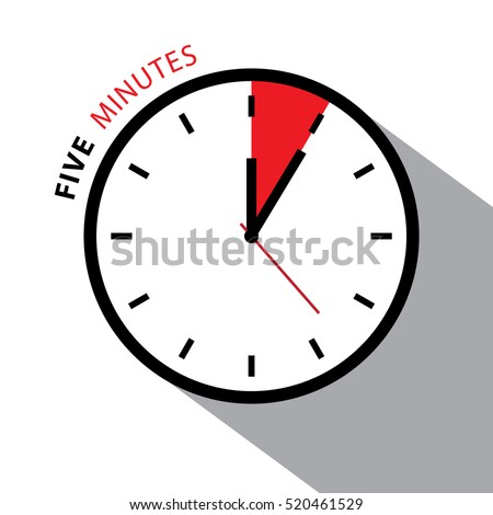 five minutes timer icon vector image 7343 rfclipart