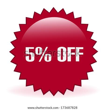 Five Percent Discount Sticker - stock vector