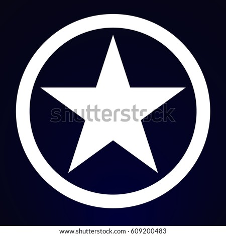 Five pointed star in circle