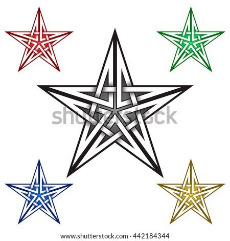 vector star contour outline illustration on stock illustration 132801251 shutterstock. Black Bedroom Furniture Sets. Home Design Ideas