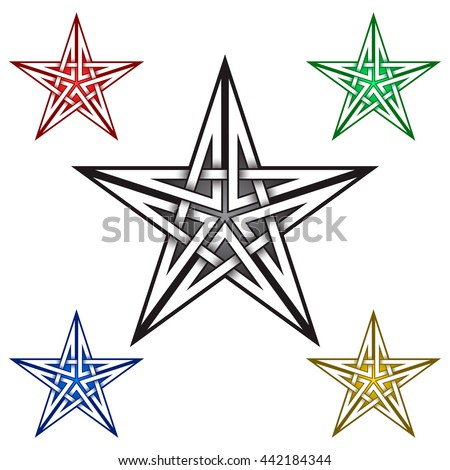 Vector Star Contour Outline Illustration On Stock