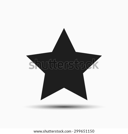 Five-pointed star vector icon on white background. flat design - stock vector