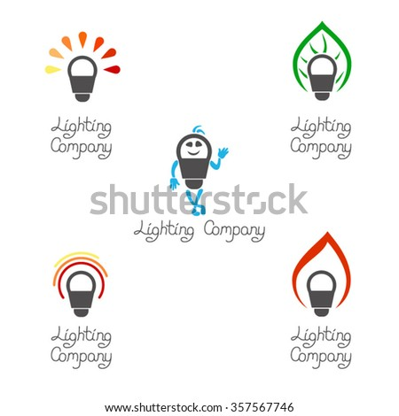 Five Signs Lighting Companies Signs Idea Stock Vector 357567746