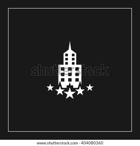 five star hotel flat icon. luxury building vector illustration