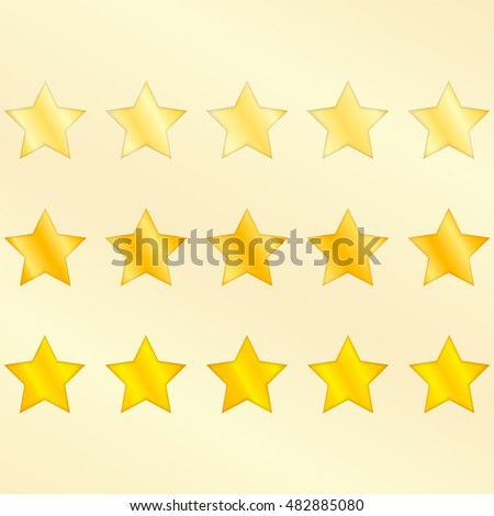 Five Star Premium Quality Product Vector. on a white background.