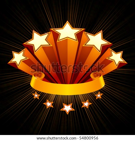 Five Stars emblem, black background