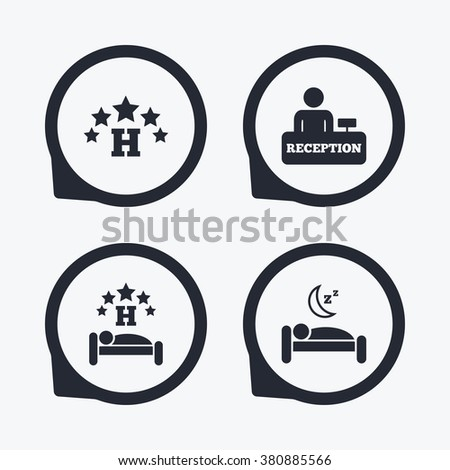Five Stars Hotel Icons Travel Rest Stock Photo Photo Vector
