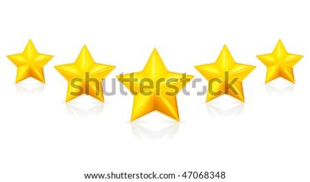 Five stars, Mesh - stock vector