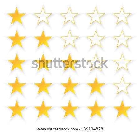 Five Stars Quality Set - stock vector