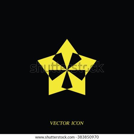Five-way direction arrow. - stock vector