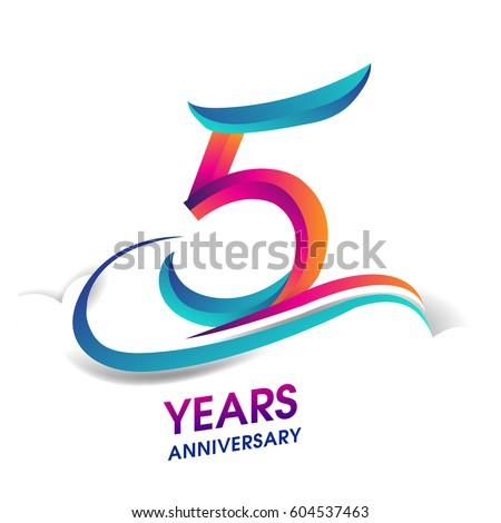 5 year anniversary logo