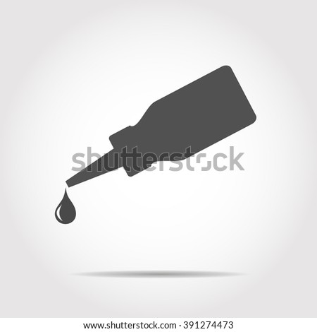Flacon and dripping icon Vector Illustration
