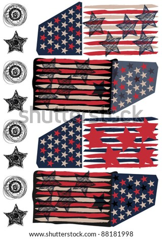 flag american - stock vector