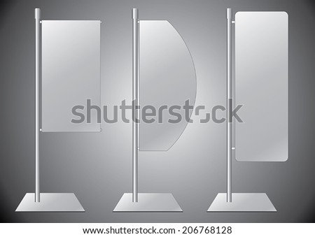 Flag banner stand display1 - stock vector