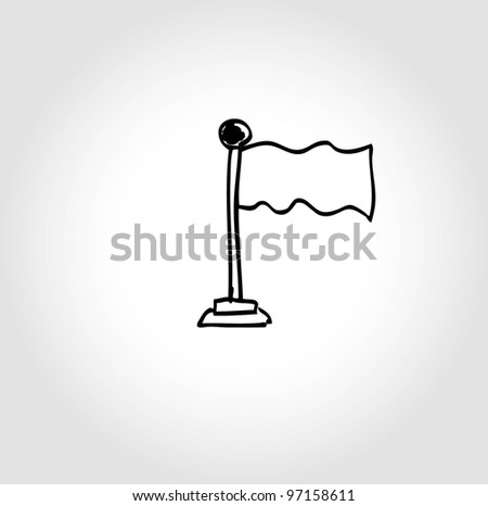 flag blank template background - vector illustration doodle - stock vector
