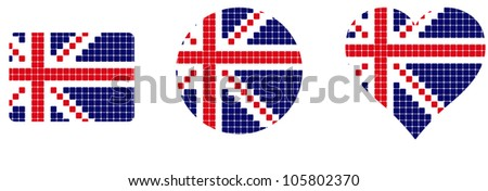 flag Britain isolated in white background - stock vector