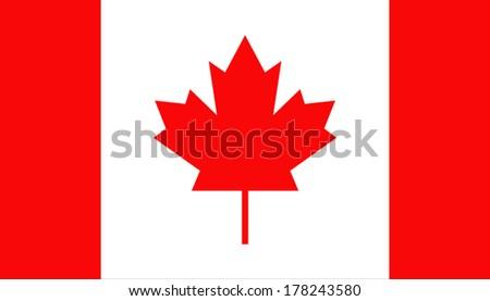 Flag Canada - stock vector