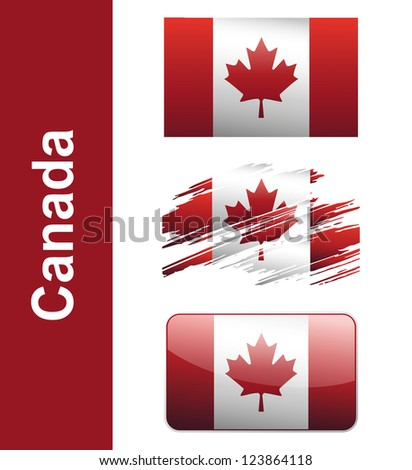 Flag Canada isolated on white background vector - stock vector