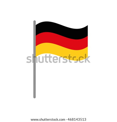 flag colors germany europe icon. Isolated and flat illustration