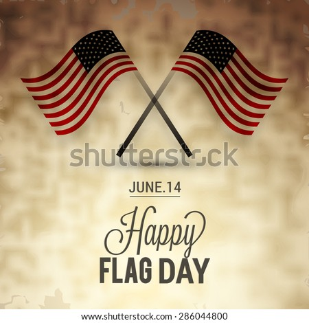 Flag day badge background - stock vector