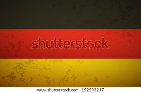 Flag Germany isolated on grunge background vector