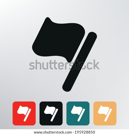 Flag icon.	 - stock vector