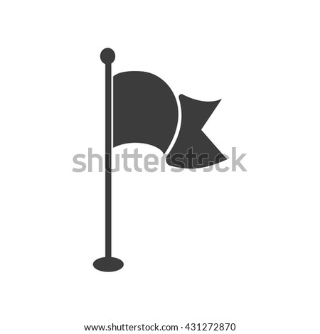 Flag icon. Flag Vector isolated on white background. Flat vector illustration in black. EPS 10 - stock vector