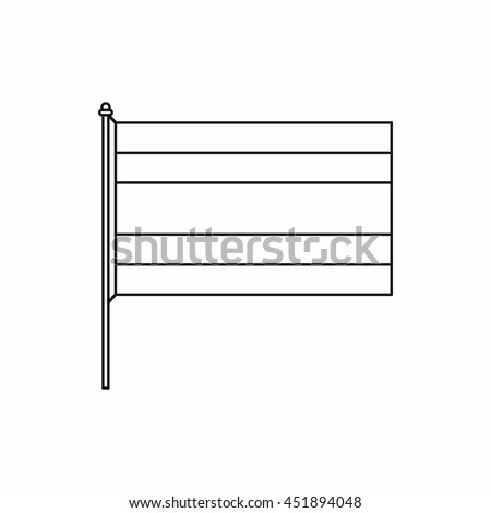 Flag icon in outline style isolated vector illustration
