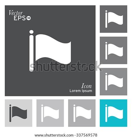 Flag icon. Vector, illustration. - stock vector