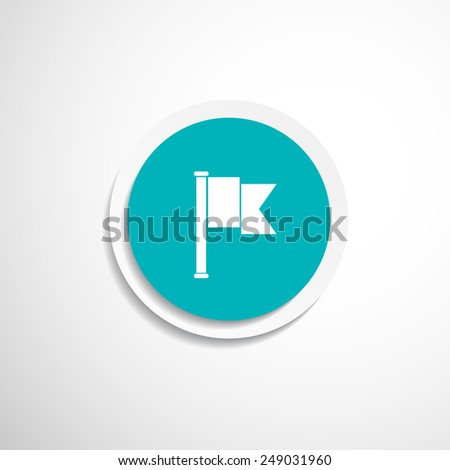 flag icon website mark map sign symbol element - stock vector