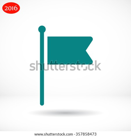 Flag line vector icon