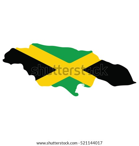 Flag-map of Jamaica