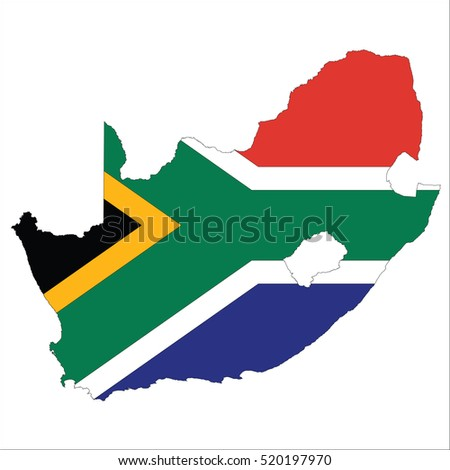 Flag-map of South Africa