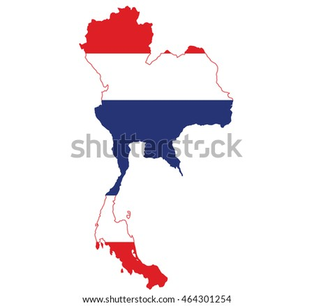 flag map of Thailand